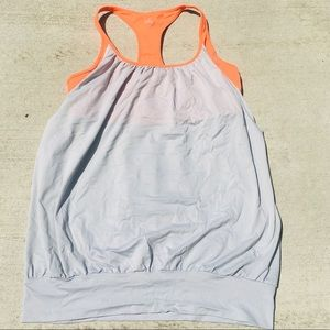 ALO Yoga Gray and Orange Workout Tank
